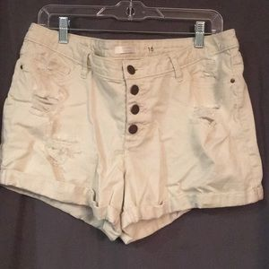 Lauren Conrad Button Fly Jean Shorts
